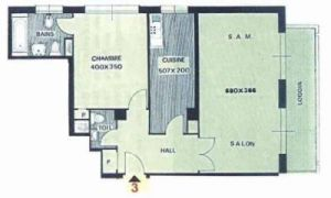 2-3 roomed apartment