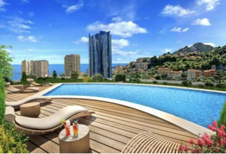 Monaco Villas - Appartement avec Piscine (bassin + plage) - Monaco Monte-Carlo