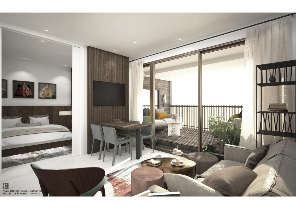 Blu Immobilier - MIRABEAU 2 ROOMS CONTEMPORARY 15th FLOOR - Monaco Monte-Carlo